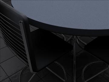 realan kuhinjski stol i stolice 3d model 3ds max fbx obj 93022