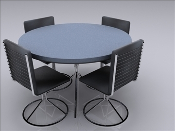 realistic kitchen table and chairs 3d model 3ds max fbx obj 93023
