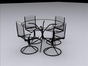 realan kuhinjski stol i stolice 3d model 3ds max fbx obj 93025