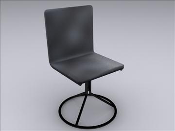 realan kuhinjski stol i stolice 3d model 3ds max fbx obj 93027