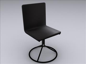 realan kuhinjski stol i stolice 3d model 3ds max fbx obj 93028