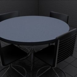 Realistic Kitchen Table and Chairs ( 56.01KB jpg by chrisb )