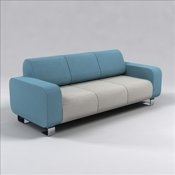ronzio sofa 3d model 3ds max dxf 96279