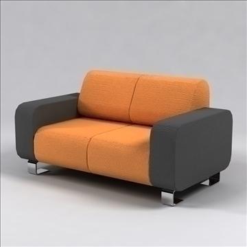 ronzio sofa 3d model 3ds max dxf 96280