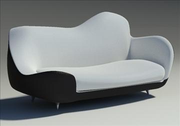 saula marina leather black white 3d model 3ds max fbx obj 91422