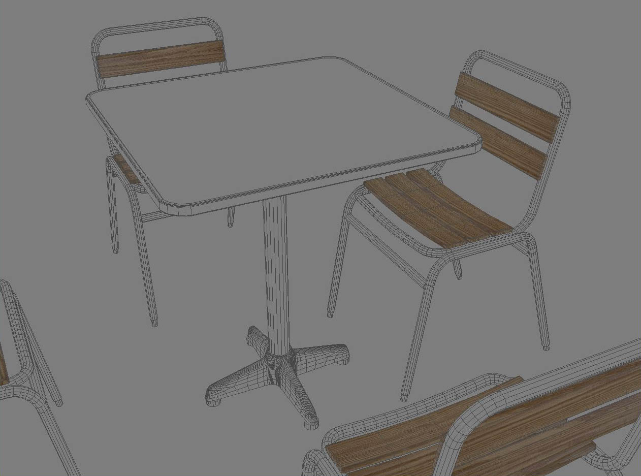 table and chair 3d model 3ds max dxf fbx jpeg jpg obj 114908