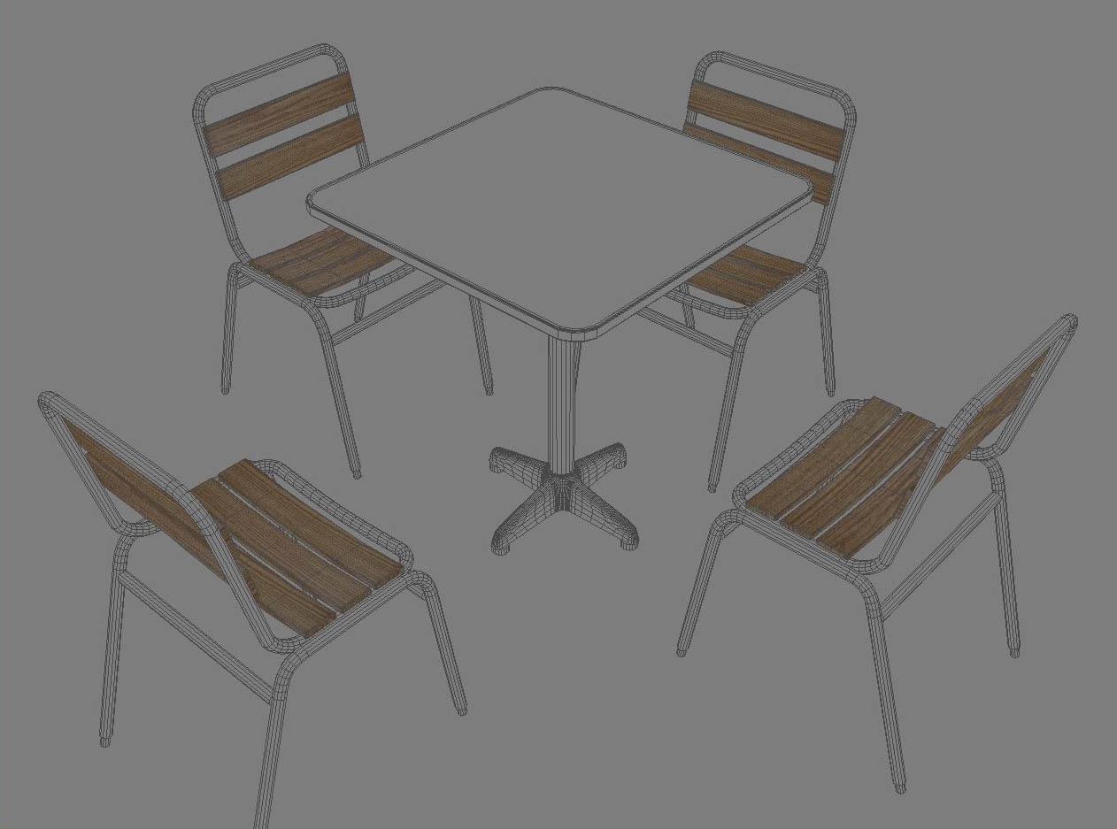 table and chair 3d model 3ds max dxf fbx jpeg jpg obj 114909