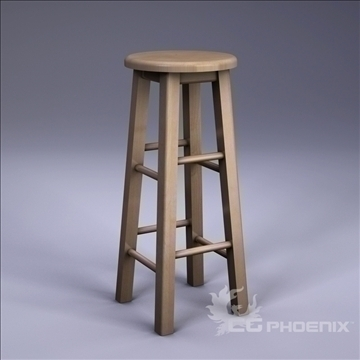 tall stool 3d model 3ds dxf fbx c4d x  obj 106713