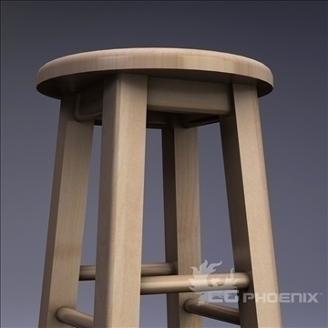 tall stool 3d model 3ds dxf fbx c4d x  obj 106715