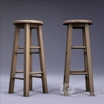 tall stool 3d model 3ds dxf fbx c4d x  obj 106716