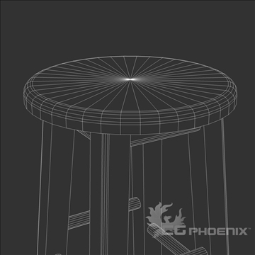 tall stool 3d model 3ds dxf fbx c4d x  obj 106718