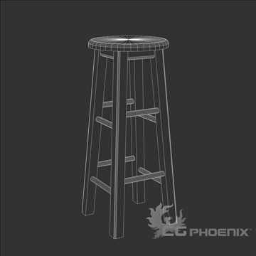 tall stool 3d model 3ds dxf fbx c4d x  obj 106719