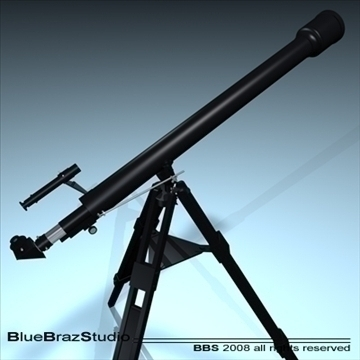 telescope 3d model 3ds dxf c4d obj 93214