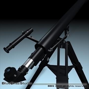 telescope 3d model 3ds dxf c4d obj 93215