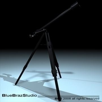 telescope 3d model 3ds dxf c4d obj 93216