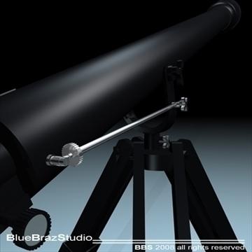 telescope 3d model 3ds dxf c4d obj 93217