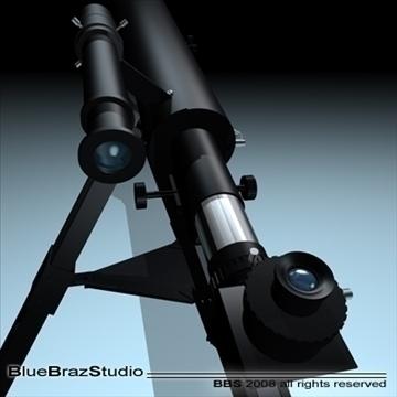 telescope 3d model 3ds dxf c4d obj 93218
