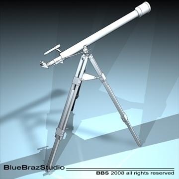 telescope 3d model 3ds dxf c4d obj 93220