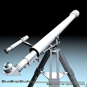 telescope 3d model 3ds dxf c4d obj 93222