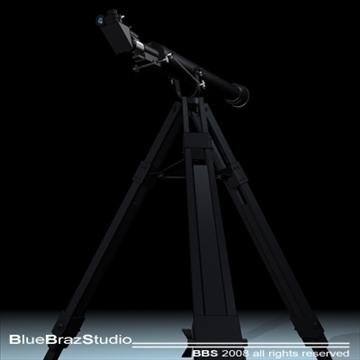 telescope 3d model 3ds dxf c4d obj 93223
