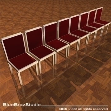 velvet chairs 3d model 3ds dxf c4d obj 101557
