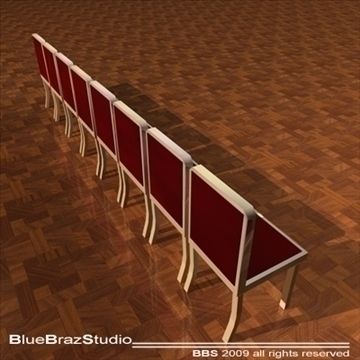 velvet chairs 3d model 3ds dxf c4d obj 101558