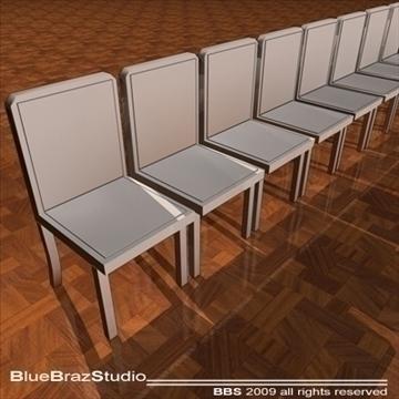 velvet chairs 3d model 3ds dxf c4d obj 101559