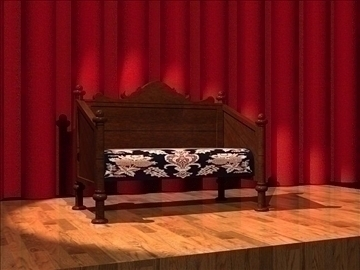 victorian couch 3d model dxf 94334