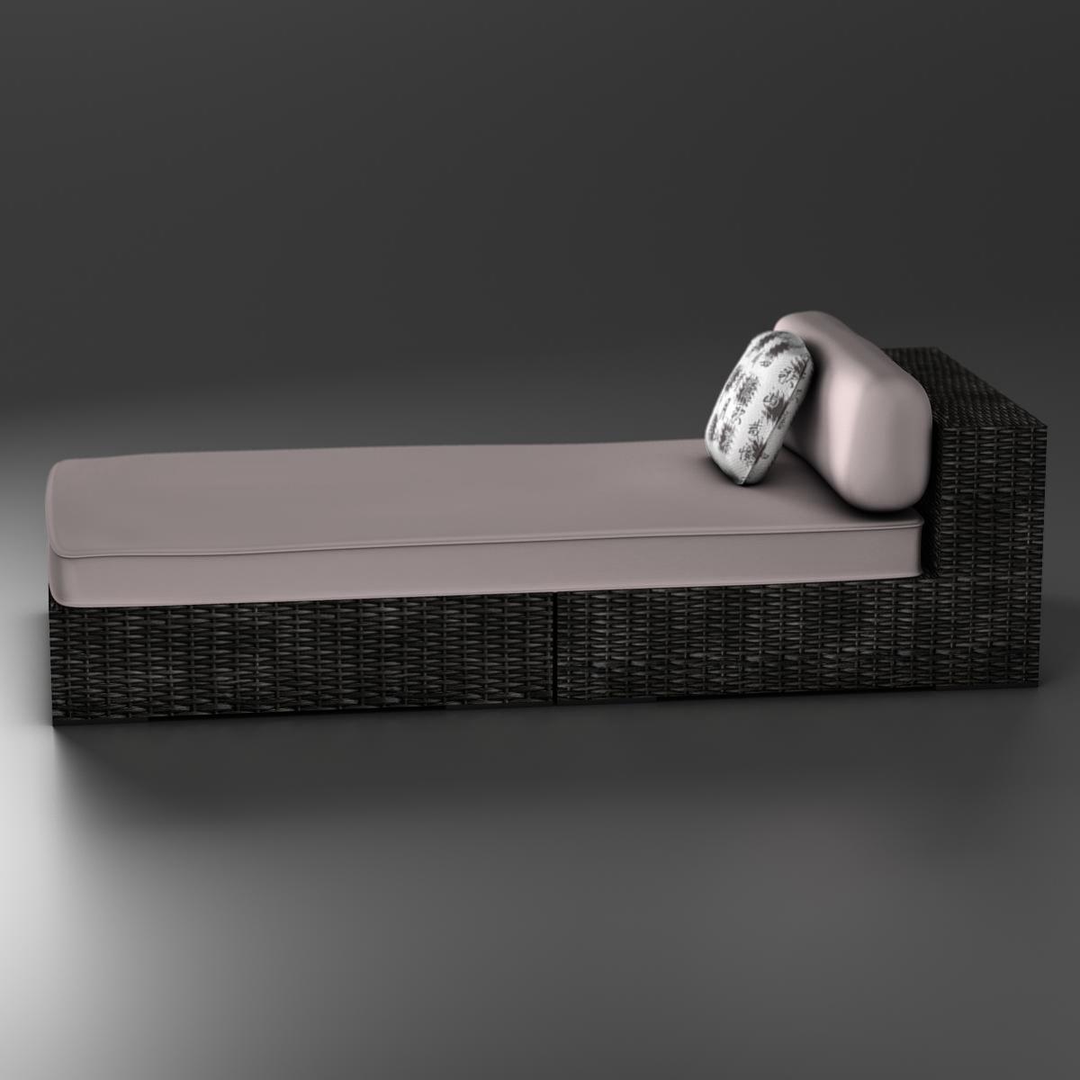 rattan chaise 3d загвар 3ds max fbx c4d ma mb obj 162558