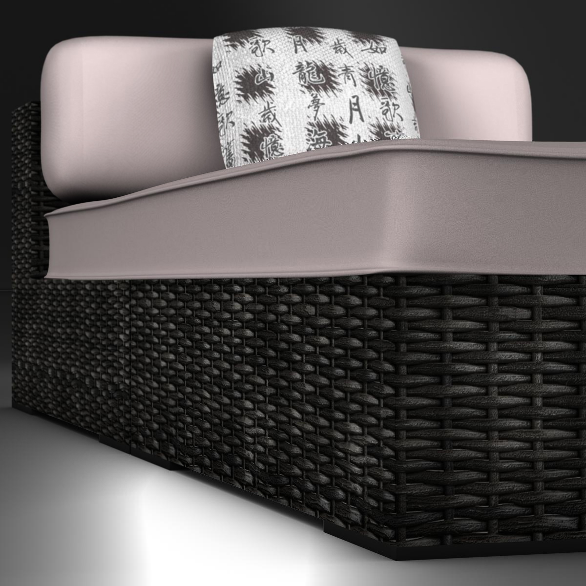 rattan chaise 3d загвар 3ds max fbx c4d ma mb obj 162561