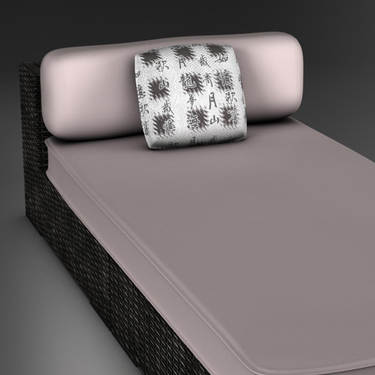 rattan chaise 3d загвар 3ds max fbx c4d ma mb obj 162562