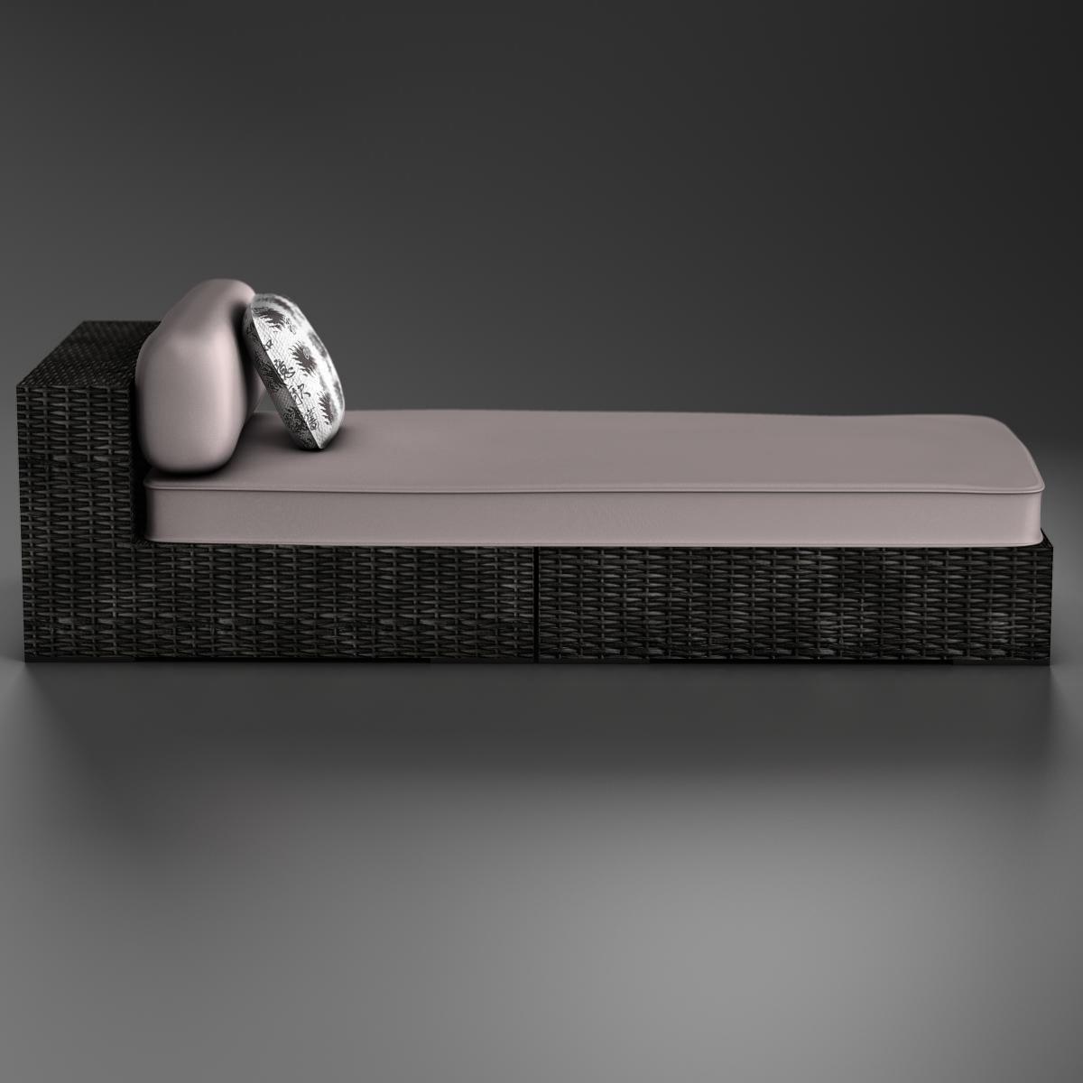 rattan chaise 3d загвар 3ds max fbx c4d ma mb obj 162564