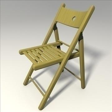 drvena stolica 3d model 3ds mješavina obj 103668