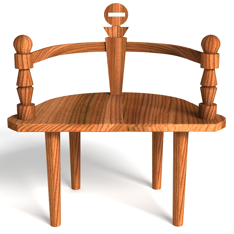 wooden chair bench 3d model max 147819