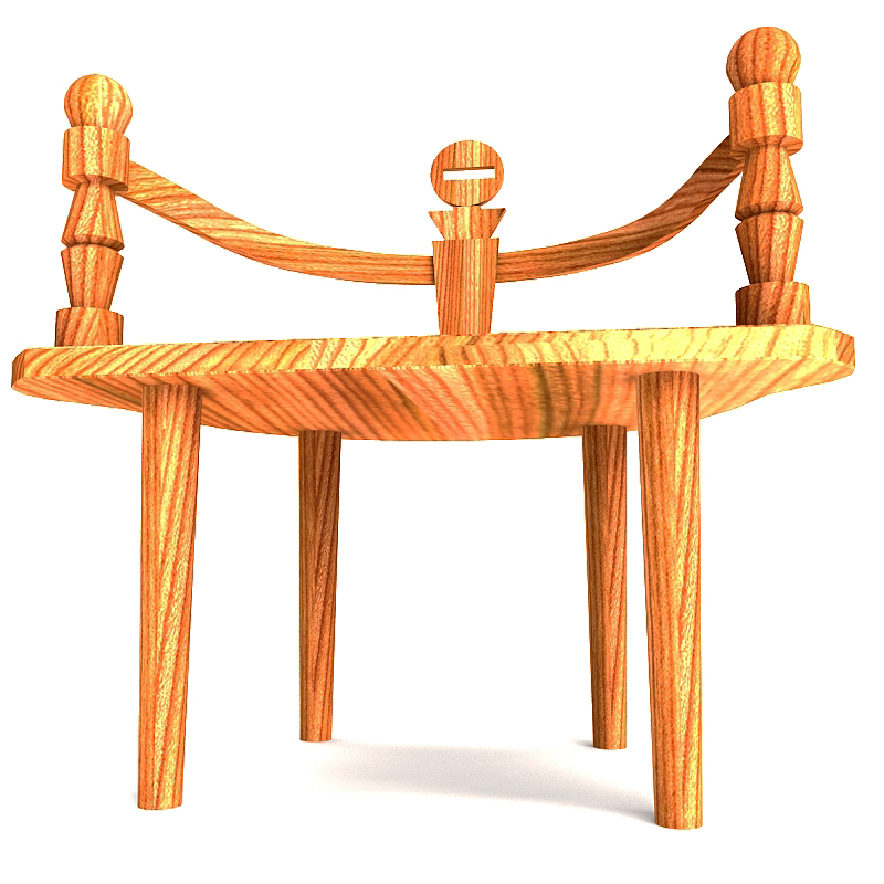 wooden chair bench 3d model max 147823