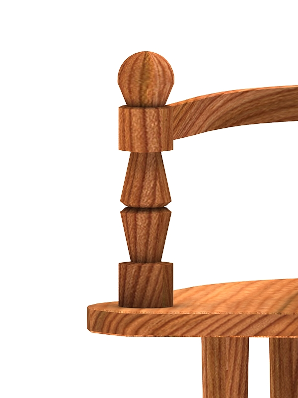 wooden chair bench 3d model max 147824