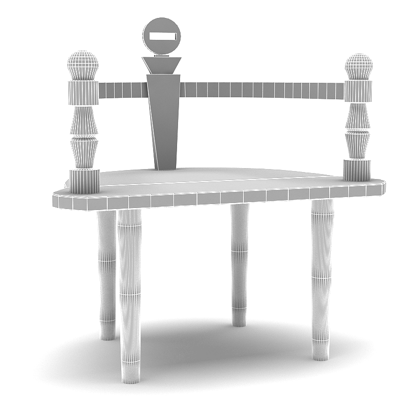 wooden chair bench 3d model max 147825