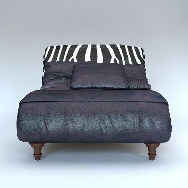 zebra settee lounge chair sofa 3d model 3ds max fbx texture obj 120864