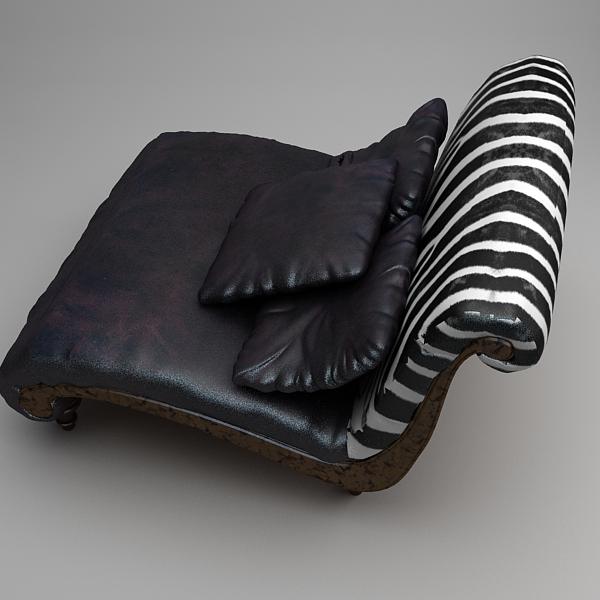 zebra settee lounge chair sofa 3d model 3ds max fbx texture obj 120866