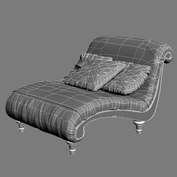 zebra settee lounge chair sofa 3d model 3ds max fbx texture obj 120867