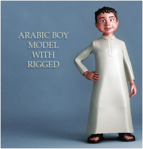 arabic boy 3d model 3ds max fbx obj 116838