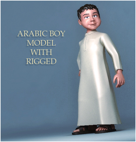 arabic boy 3d model 3ds max fbx obj 116839