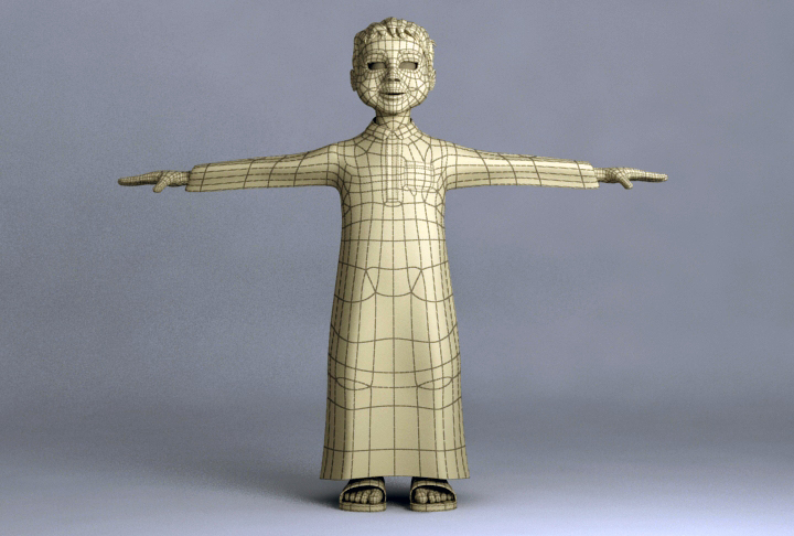 arabic boy 3d model 3ds max fbx obj 116843