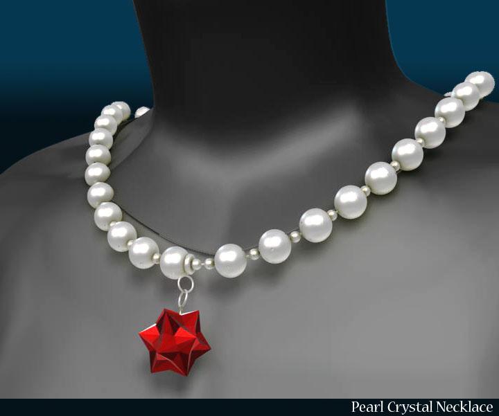 pērļu kristāla kaklarota 3d modelis 3ds max fbx obj 117825