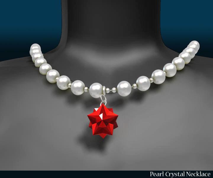 pērļu kristāla kaklarota 3d modelis 3ds max fbx obj 117826