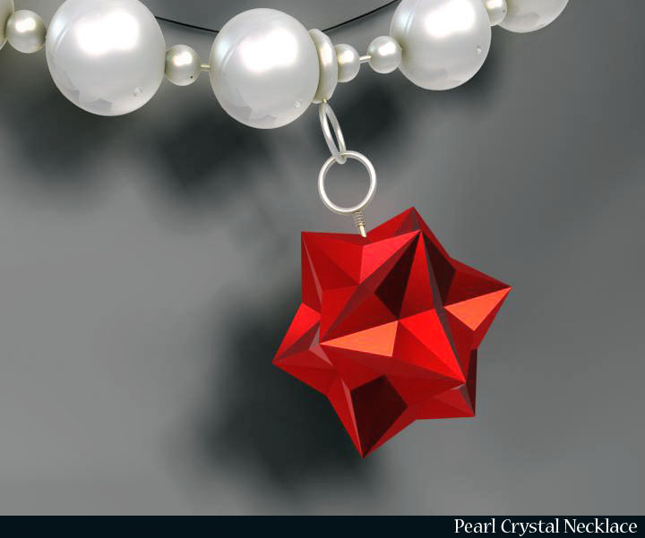 pērļu kristāla kaklarota 3d modelis 3ds max fbx obj 117827
