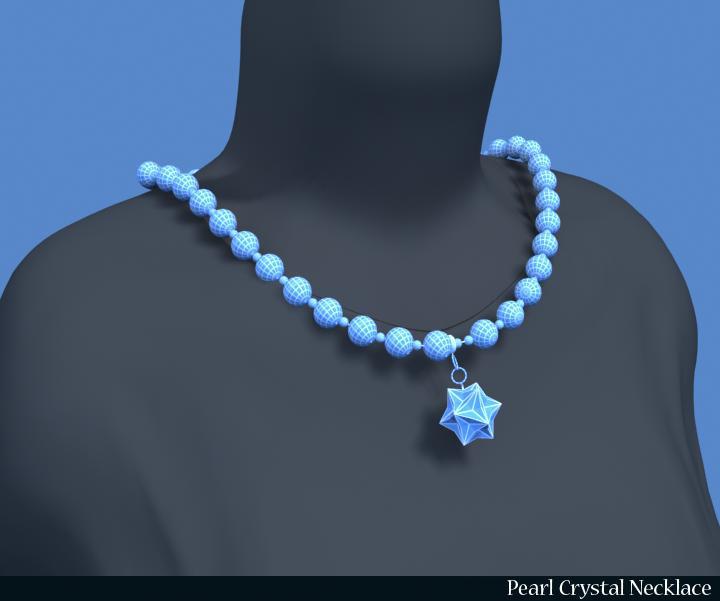 pērļu kristāla kaklarota 3d modelis 3ds max fbx obj 117828