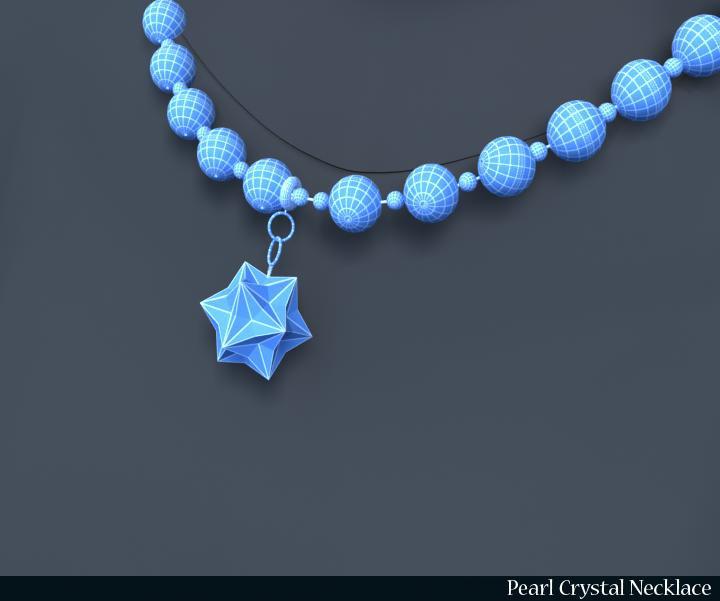 pērļu kristāla kaklarota 3d modelis 3ds max fbx obj 117829