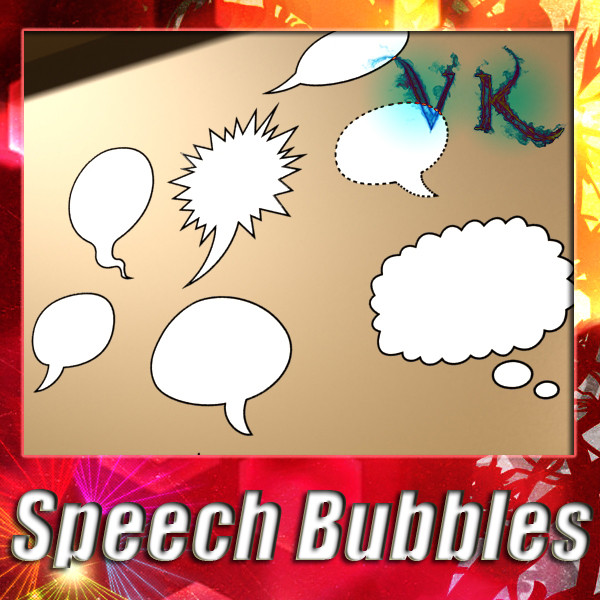 12 speech bubbles collection 3d model 3ds max fbx obj 132154