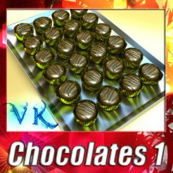 3D Model Chocolate Candy 01 ( 162.6KB jpg by VKModels )